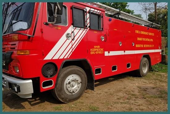 Fire Truck Bharatpur, Chitwan,